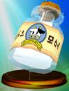 Lon Lon Milk trophy from Super Smash Bros. Melee.