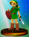 Young Link trophy from Super Smash Bros. Melee.