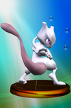 Mewtwo trophy from Super Smash Bros. Melee.