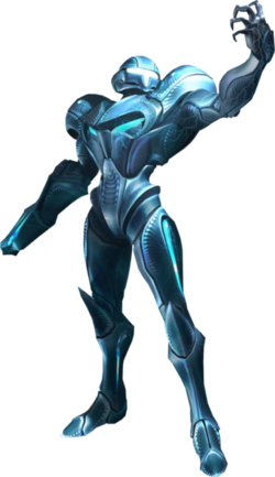 "Official artwork of Dark Samus from ""Metroid Prime 3: Corruption""."