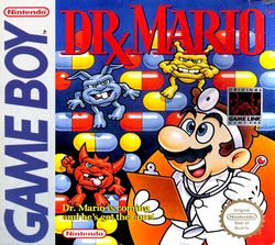 The cover for the Game Boy version of Dr. Mario.