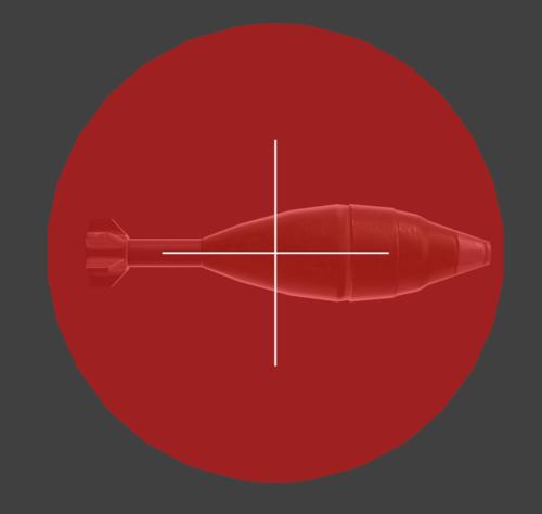 Hurtbox visualization for Snake's up smash mortar