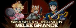 The logo for Smashers' Reunion: Melee Grande.