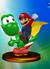 Mario & Yoshi trophy from Super Smash Bros. Melee.