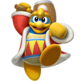 Artwork of King Dedede from Kirby Fighters 2