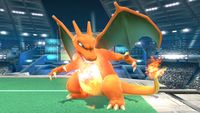 Charizard's second idle pose in Super Smash Bros. for Wii U.