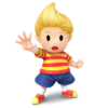 Official artwork of Lucas from SSB4, from the Nintendo UK press library.