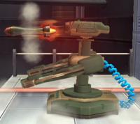 A R.O.B. Launcher firing a missile