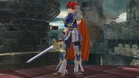 Roy's first idle pose in Super Smash Bros. for Wii U.