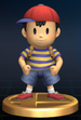 Ness trophy from Super Smash Bros. Brawl.