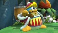 King Dedede's first idle pose in Super Smash Bros. for Wii U.