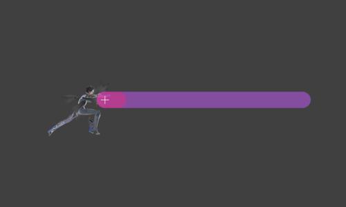 Hitbox visualization for Bayonetta's jab 2 Bullet Arts