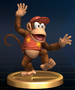 Diddy Kong trophy from Super Smash Bros. Brawl.