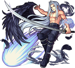Shirtless Sephiroth from Dissidia Final Fantasy.