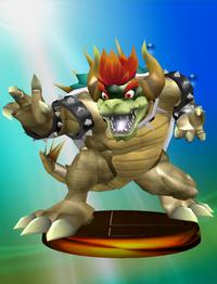Giga Bowser trophy from Super Smash Bros. Melee.
