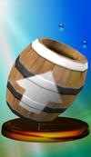 Barrel Cannon trophy from Super Smash Bros. Melee.