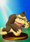 Donkey Kong trophy from Super Smash Bros. Melee.