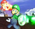 Mario and Luigi using their Fireball attacks in Super Smash Bros. Melee. Source: Nintendo of Japan