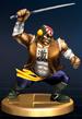 Samurai Goroh trophy from Super Smash Bros. Brawl.