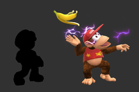 Shocking Banana Peel in Super Smash Bros. for Wii U.