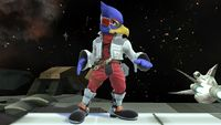 Falco's first idle pose in Super Smash Bros. for Wii U.