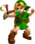 Young Link artwork from The Legend of Zelda: Ocarina of Time 3D.