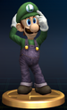 Luigi trophy from Super Smash Bros. Brawl.