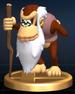 Cranky Kong trophy from Super Smash Bros. Brawl.