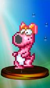Birdo trophy from Super Smash Bros. Melee.