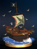 Pirate Ship trophy from Super Smash Bros. Brawl.