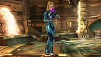 Zero Suit Samus's second idle pose in Super Smash Bros. for Wii U.
