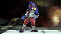 Falco's second idle pose in Super Smash Bros. for Wii U.