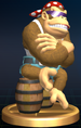 Funky Kong trophy from Super Smash Bros. Brawl.