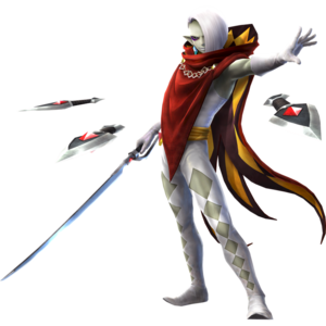 """Official artwork of Ghirahim from """"Hyrule Warriors"""". source"""