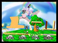 A beta version of the Dream Land stage in SSB64.