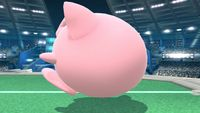 Jigglypuff's idle pose in Super Smash Bros. for Wii U.