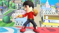 Mii Brawler's second idle pose in Super Smash Bros. for Wii U.