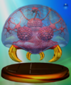 Metroid trophy from Super Smash Bros. Melee.