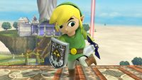 Toon Link's second idle pose in Super Smash Bros. for Wii U.