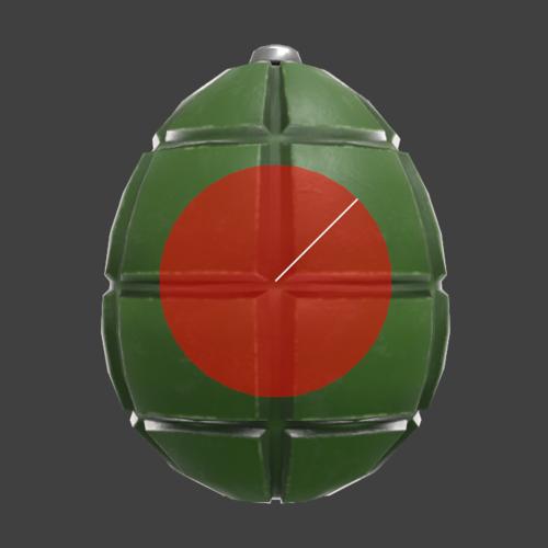 Hitbox visualization for Banjo & Kazooie's Rear Egg