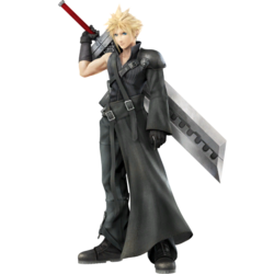 Full body portrait of Cloud's Advent Children costume.