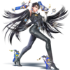 Bayonetta as she appears in Super Smash Bros. 4.