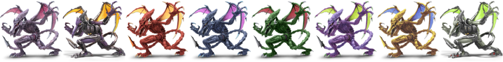 Ridley's Costumes in SSBU.