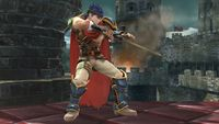 Ike's second idle pose in Super Smash Bros. for Wii U.