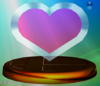 Heart Container trophy from Super Smash Bros. Melee.