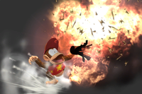 Exploding Popgun in Super Smash Bros. for Wii U.