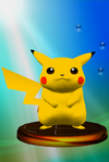 Pikachu trophy from Super Smash Bros. Melee.