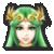 Palutena's stock icon in Super Smash Bros. for Wii U.
