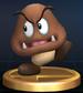 Goomba trophy from Super Smash Bros. Brawl.