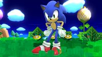 Sonic's first idle pose in Super Smash Bros. for Wii U.